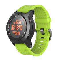 ANCOOL Compatible with Fenix 2 Bands Soft Silicone Watch Bands Replacement for Fenix 2 Smartwatch(Green)