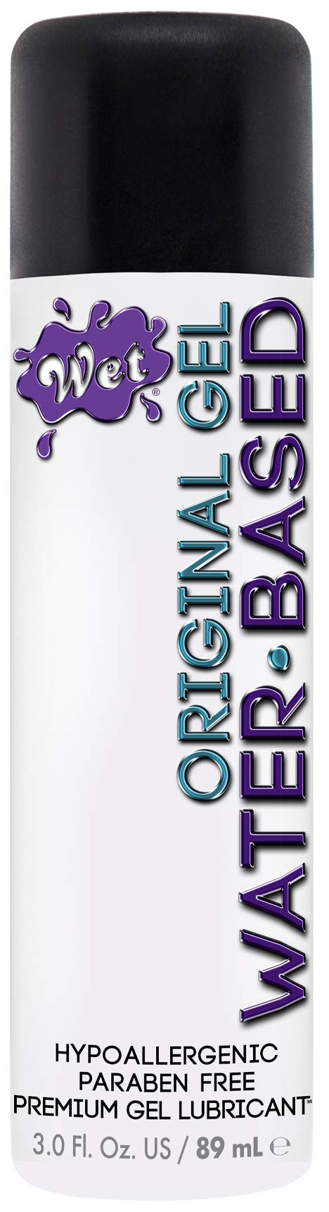 Wet Water Based Lube Original Formula Lubricant 3.0 Ounce (Packaging may vary)