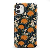 Casely iPhone 11 Phone Case - Off Tropic | Exotic Orange Flower Case - 360 Degree Coverage for Your Phone - Precise Cutouts, 1mm Raised Lip Camera Protection - Bold