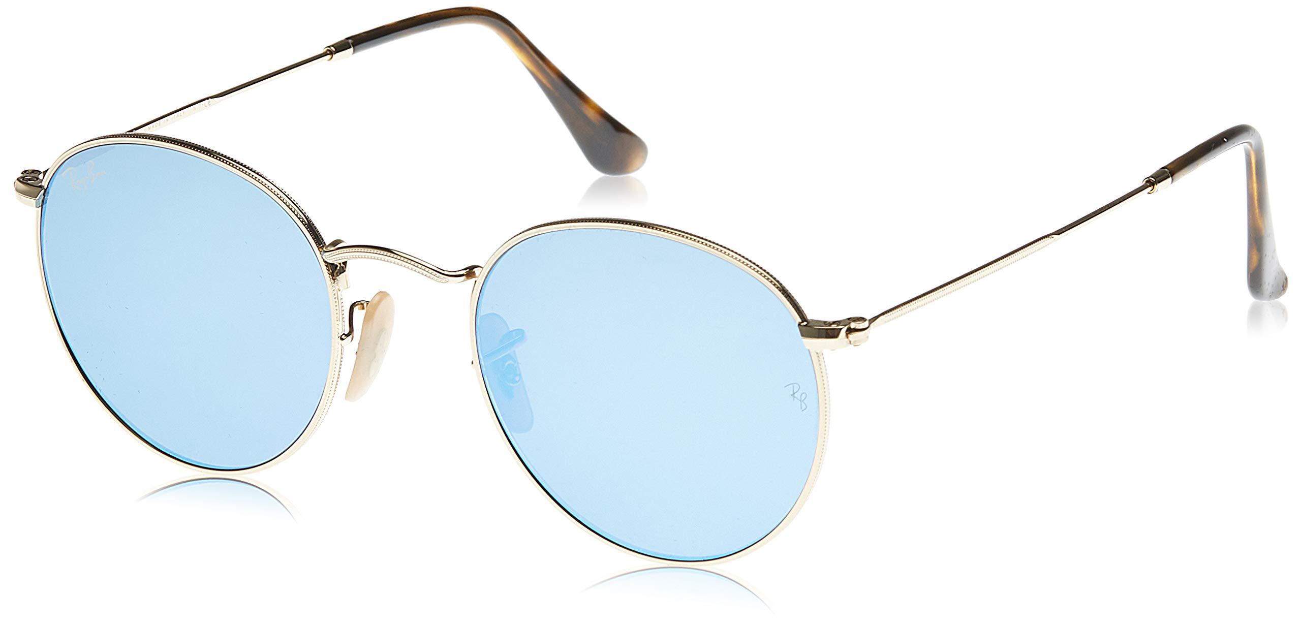 Ray-Ban Rb3447n Round Flat Lenses Metal Sunglasses