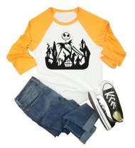 Witch Please T-Shirt Women Halloween Novelty Letter Printed Short Sleeve Top Tees