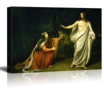 """wall26 - Christ's Appearance to Mary Magdalene After The Resurrection by Alexander Ivanov - Canvas Print Wall Art Famous Painting Reproduction - 12"""" x 18"""""""