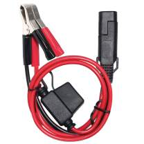 SPARKING 1.5FT 12V Battery Alligator Clip to SAE 2Pin Quick Disconnect Cable SAE to Battery Clamp Cable 7.5A Fuse(1 PACK)