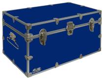 C&N Footlockers UnderGrad Storage Trunk - College Dorm Chest - Durable with Lid Stay - 32 x 18 x 16.5 Inches (Royal Blue)