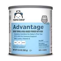 Amazon Brand - Mama Bear Advantage Infant Formula Milk-Based Powder with Iron, Non-GMO, 12.4 Ounce