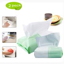 Eseres Extractable Kitchen Lazy Rag, Wet and Dry Dual-Use Household Chores Degreasing Paper Disposable Home Kitchen Dish Cleaning Cloths-2 Pack