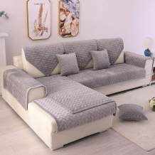 TEWENE Couch Cover, Sofa Cover Couch Covers Sectional Couch Covers Anti-Slip Sofa Slipcover for Dogs Cats Pet Love Seat Light Grey 36''x47'' (Only 1 Piece/Not All Set)