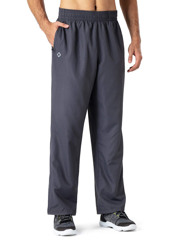Naviskin Men's Lightweight Vital Warm-Up Pants Athletic Workout Woven Pants