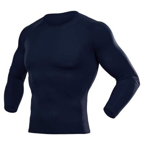 Herren Kompressionsshirt Langarm T-Shirt Tops Fitness Leggings Tights Sportshose