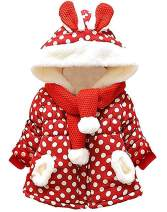 RJXDLT Baby Girl's Toddler Kids Fall Winter Coat Jacket Outwear Ear Hoodie Sweatshirt