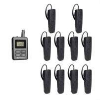Retekess TT108 Wireless Tour Guide System UHF Professional Audio Simultaneous Church Translation System for Interpretation Training Court(1 Transmitter and 10 Receivers)