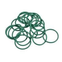 uxcell Fluorine Rubber O Rings, 35mm OD, 30.2mm Inner Diameter, 2.4mm Width, Seal Gasket Green 20Pcs