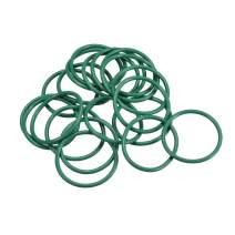 48mm OD Fluorine Rubber O Rings I.D Seal Gasket Green 5Pcs 3.5mm Width