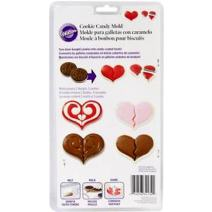 Wilton Hearts Cookie Candy Mold