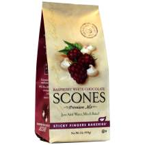 Sticky Fingers Bakeries, English Scone Mix, Raspberry White Chocolate, Just Add Water, Mix, and Bake. Makes 12 Scones (Pack of 1)