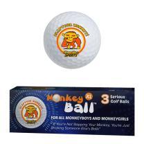 Slap Your Monkey! Ultimate Joke or Prank for Your Buddy's Golf Game! | Gag Golf Balls | 3 XL Novelty Golf Balls USGA Conforms | Exploding Golf Ball Power | Funny Golf Balls White Elephant | Golf Gift