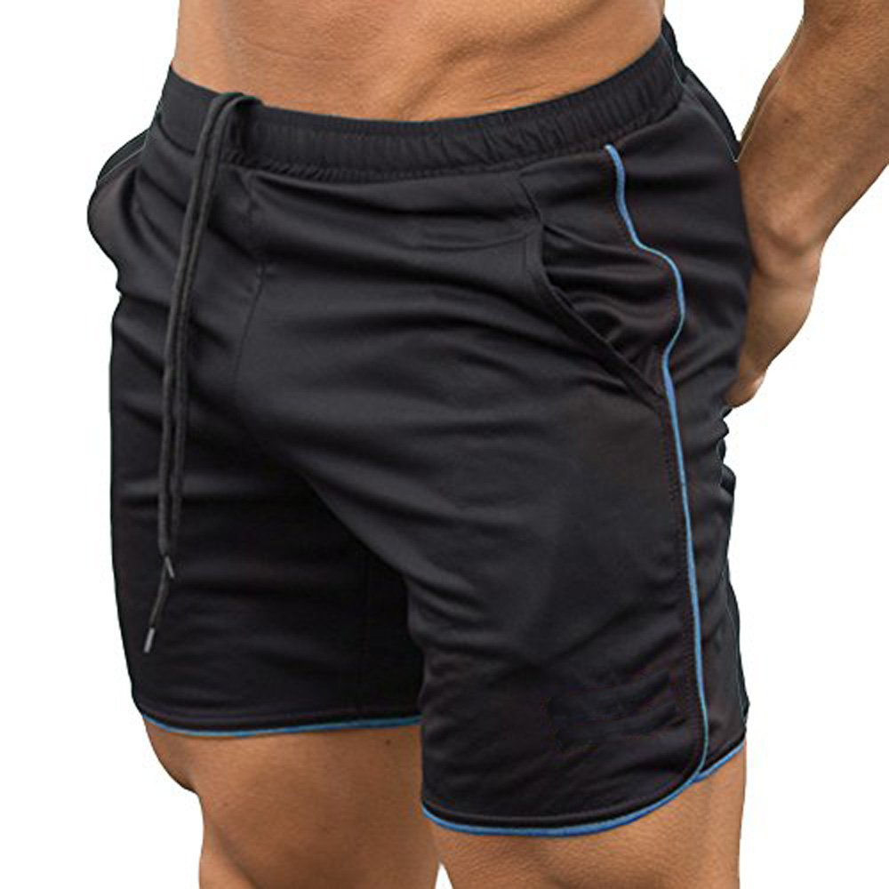 EVERWORTH Men's Gym Workout Boxing Shorts Running Short Pants Fitted Training Bodybuilding Jogger Short