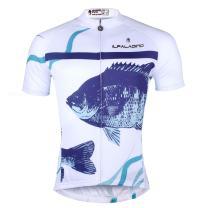 ILPALADINO Men's Cycling Jersey Short Sleeve Biking Shirts Fish Animals Pattern