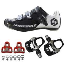 21Grams SIDEBIKE Men's Cycling Shoes,Breathable Cushioning Road Bike Shoes with Pedals & Cleats