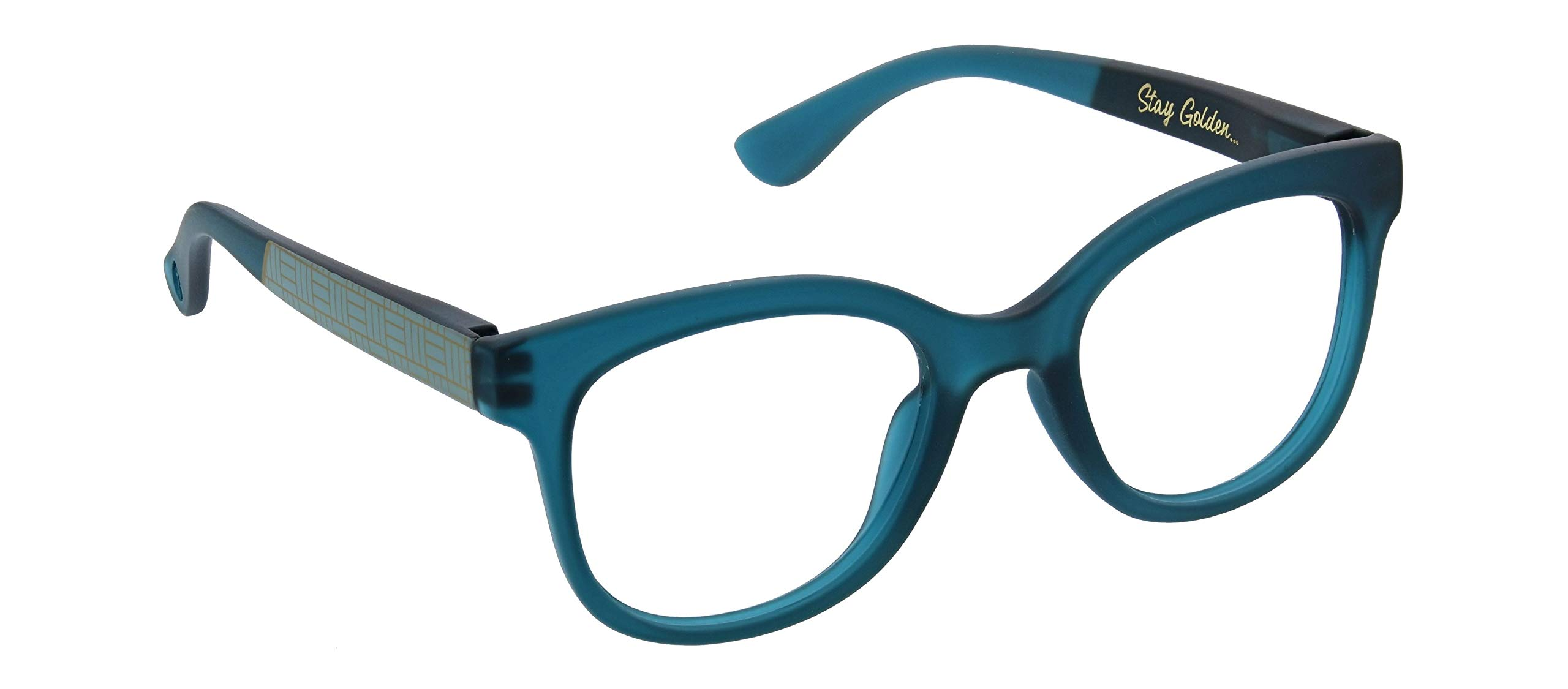Peepers by PeeperSpecs Women's Brocade Focus Square Blue Light Filtering Reading Glasses