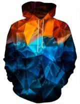 Yasswete Unisex 3D Printed Drawstring Hoodies Pullover Sweatshirts with Big Pockets