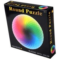 ANOVEL Puzzles for Adults Jigsaw Puzzles 1000 Pieces Big Round Rainbow Puzzles