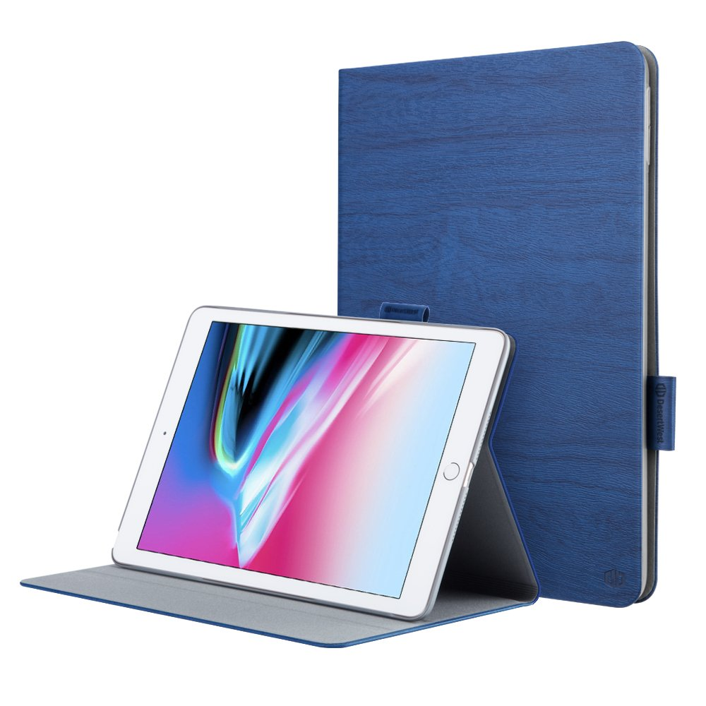KXCDTECH Magnetic Case for 2018/2017 iPad 9.7 inch, 5th/6th Generation Smart Cover Stand with Pencil Holder, Leather [Auto Sleep/Wake] Lightweight Shockproof
