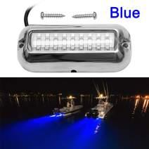 VOFONO Waterproof Ip68 Led Drain Plug Light Underwater Boat Lights Marine Yacht Led Drain Plug Light for Fishing Swimming Divinng