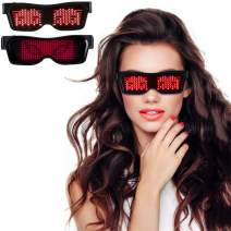 Customizable Bluetooth LED Glasses Grow Party Favor, Nightclub, Festivals, Raves, Christmas, Birthday Party Supplies Red
