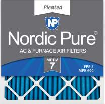 Nordic Pure 24x24x1 MERV 7 Pleated AC Furnace Air Filters, 24x24x1M7-6, 6 Pack