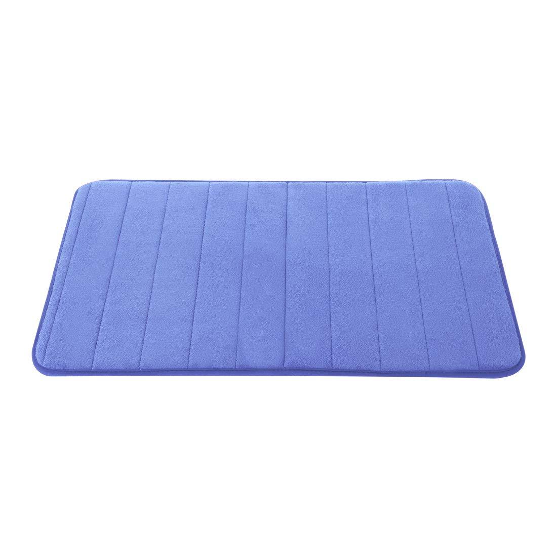 uxcell Bathroom Mats Non-Slip Soft Absorbent Memory Foam Rugs Carpet Blue 32 x 20 Inch