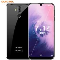 "OUKITEL K9 Unlocked Cell Phones, 7.12"" FHD+ Water Drop Screen 4GB RAM + 64GB ROM 16MP+8MP Dual Camera 6000mAh Battery Unlocked Smartphones,4G Android 9.0 Dual SIM Smartphone Support OTG-Black"