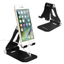 Cell Phone Stand,iPhone Stand Adjustable iPad Stand Tablet Stand Desk Cell Phone Holder Foldable Tablet Mount Universal Aluminum Stand for Switch Kindle Sumsung Smartphones and Tablets (Black # 2)