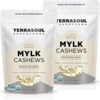 Terrasoul Superfoods Organic Raw Cashews (Mylk Grade), 4 Pounds