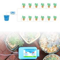 VAlinks Automatic Watering System, Houseplants Self Watering System with Watering Cycle Timer with 5V USB, Indoor Pot drip Irrigation Set, for 12 Plants, Care Equipment