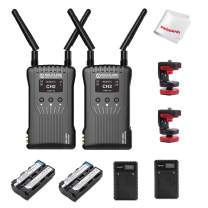 Hollyland Mars 400S 1080p HDMI SDI Transmission System 5G Wireless Image Transmission to 4 Devices in a Distance of 400ft Support Android & iOS 3 Scene Modes, W Battery Kit (Transmitter+Receiver)