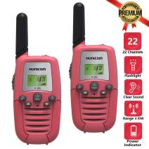 HUNICOM Walkie Talkies for Kids, Clear Sound Kids Walkie Talkies, Friendly Design Toy Walkie Talkies for Toddlers, Best Gifts Toys Walkie Talkie for Boys and Girls to Indoor Outdoor Activities