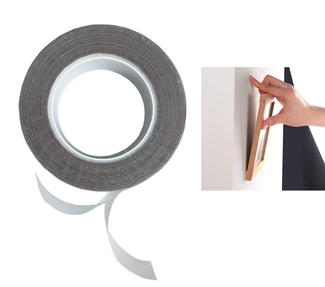 Premium Fixate Cell Pads by sunshot, Sticky Anti-Slip Gel Pads Double Sided Tape Roll, Stick to Glass, Mirrors, Whiteboards, Metal, Kitchen Cabinets or Tile, Hold Picture Frame on Wall etc