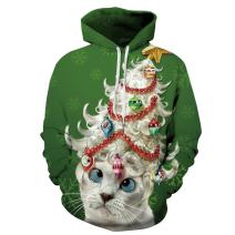 JomeDesign Unisex 3D Print Ugly Christmas Sweater Pullover Hoodie Sweatshirt with Pockets