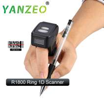 Yanzeo Portable Wearable Ring R1800 2.4G 1D Mini Bar Code Scanner Bluetooth 380mA Battery Compatible for iOS/Android
