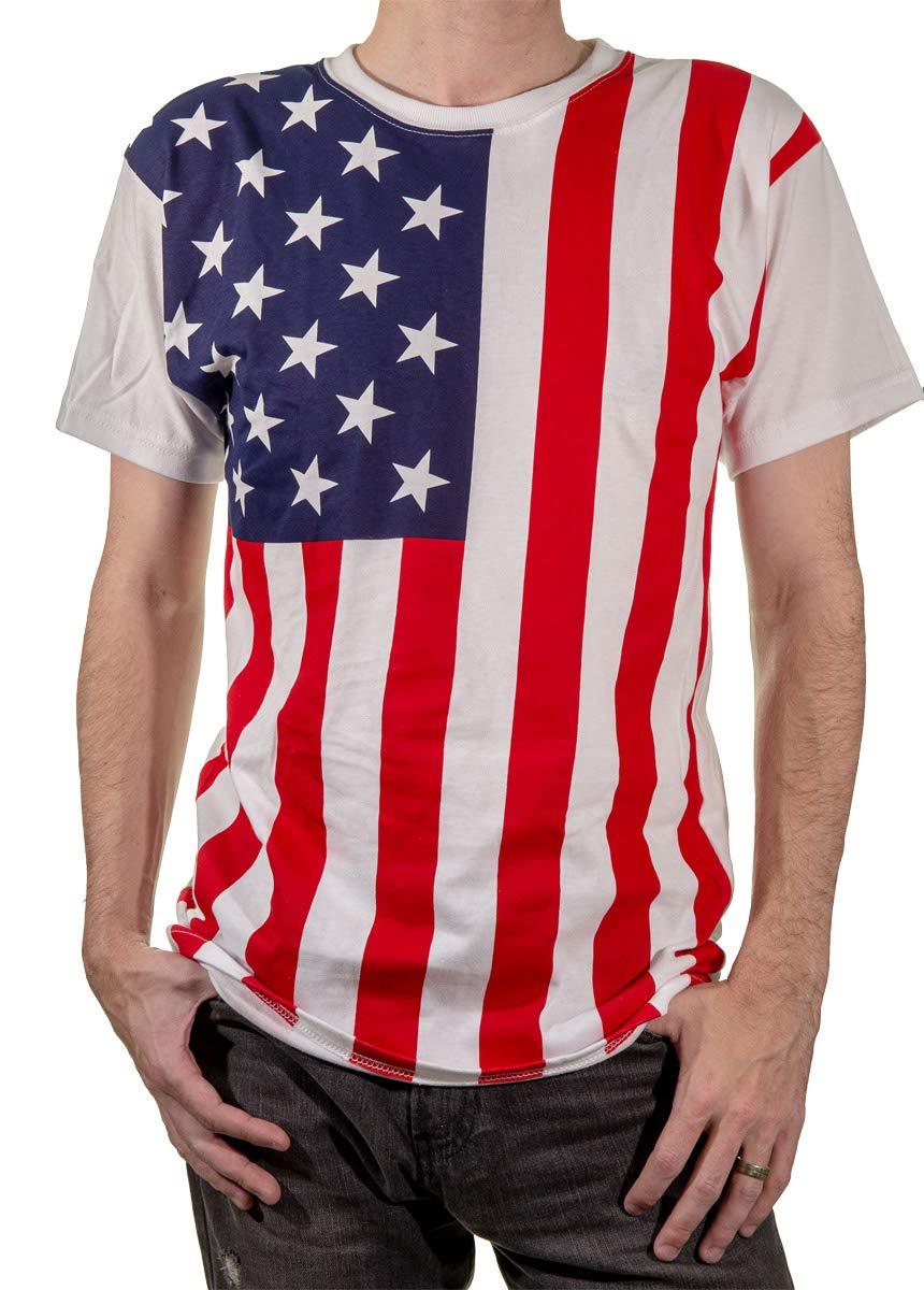 Calhoun Men's USA Patriotic American Flag T-Shirt