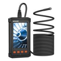 Inspection Camera with 4.3inch LCD Screen, 5.5MM Digital Industrial Endoscope 1080P HD Handheld Endoscope Camera with 16.5FT Semi-Rigid Cable, 6 LEDs, IP67 Waterproof Borescope Camera
