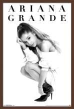 """Trends International Ariana Grande - Honeymoon, 22.375"""" x 34"""", Mahogany Framed Version"""