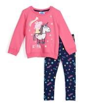 Peppa Pig Toddler Baby Girls Long Sleeve Shirt & Leggings Set