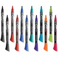 Quartet Dry Erase Markers, Whiteboard Markers, Fine Tip, EnduraGlide, BOLD COLOR, Assorted Classic & Neon Colors, 12 Pack (5001-21M)