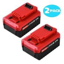 2 Pack 5000Ah 20V MAX Lithium Replacement Battery for Porter Cable 20v Lithium Battery PCC685L PCC680LPCC682L PCC685LP PCC680L PCC600 PCC640 20 Volts Cordless Tools Batteries