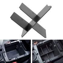 Center Console Insert Divider Fit for Jeep Wrangler JL/JLU (2018 2019 2020) and Jeep Gladiator JT Truck (2020) Armrest Storage Box Organizer Divider, Black