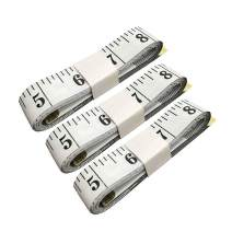 SumVibe 79 Inches/200cm Soft Tape Measure, Measuring Tape for Sewing Waist Body Tailor Cloth Garment Measurement, White 3-Pack