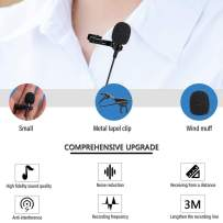Mini Professional Lavalier Lapel Microphone for iPhone 7/8/11/12/X/XS/XR, Omnidirectional Condenser Mic to Youtube Vlogging Facebook Interview, Video for iPhone Smartphone/iPad/iPod (9.8 ft)