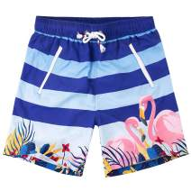 Yundobop Mens Boys Quick Dry Swim Trunks with Mesh Lining Solid Swimsuits Swim Shorts